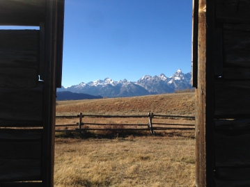 Abandoned Cabin with Teton Mountain Range