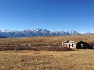Abandoned Cabin with Teton Mountain Range